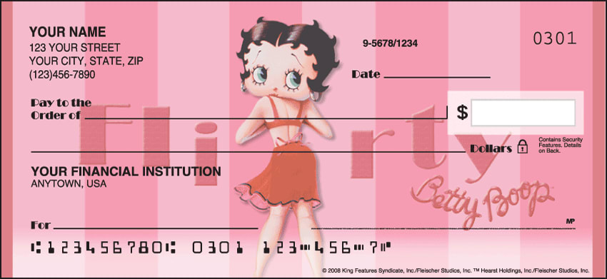 betty boop vintage checks - click to preview