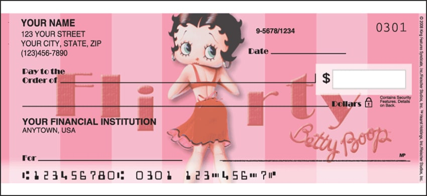 betty boop vintage side tear checks - click to preview