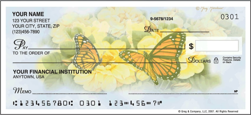 butterfly blooms side tear checks - click to preview