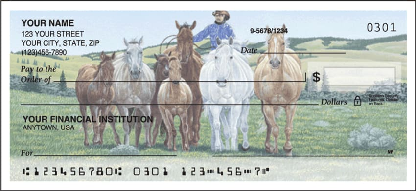 Cowboy Side Tear Checks - click to view larger image