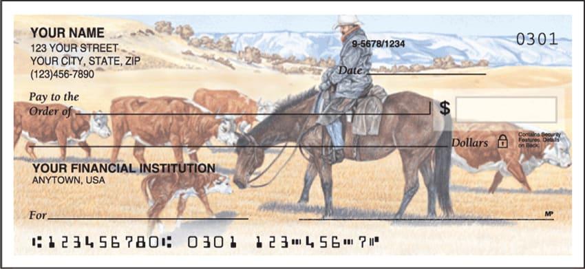 cowboy side tear checks - click to preview