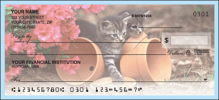 Cute Kittens Checks - click to view larger image