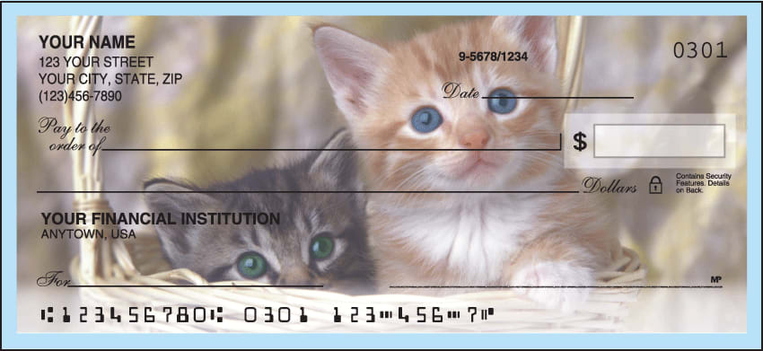 cute kittens checks - click to preview