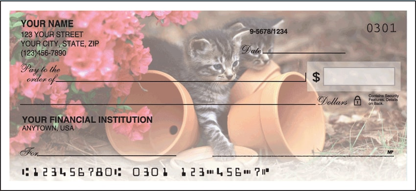 Cute Kittens Side Tear Checks - click to view larger image
