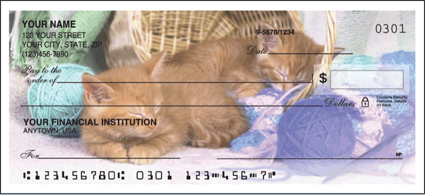 cute kittens side tear checks - click to preview