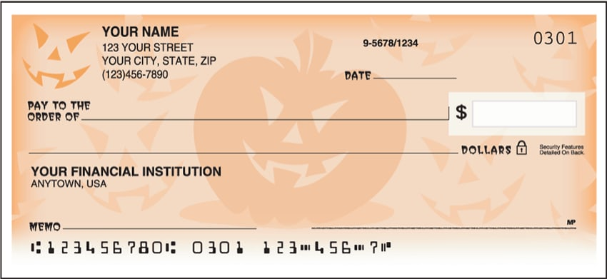 Halloween Side Tear Checks - click to view larger image
