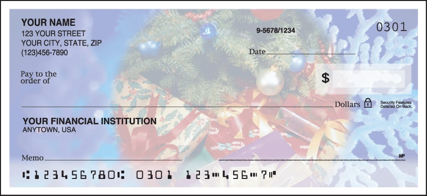 happy holidays checks - click to preview