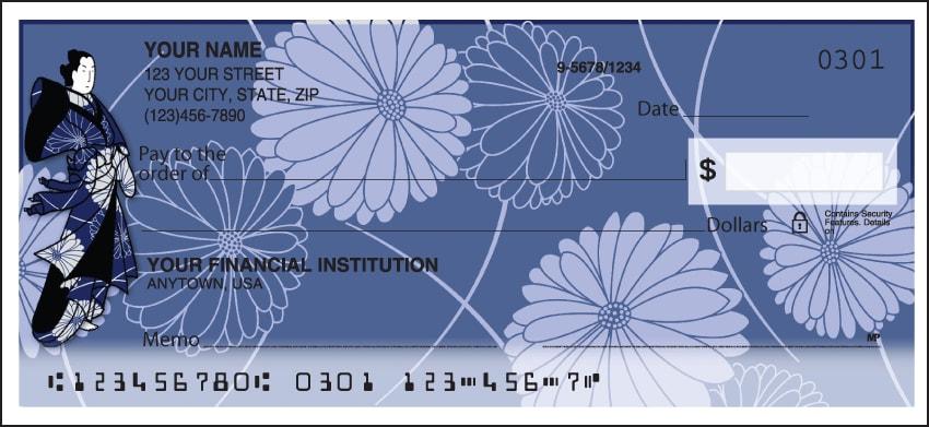 Kimono Personal Checks - click to view larger image