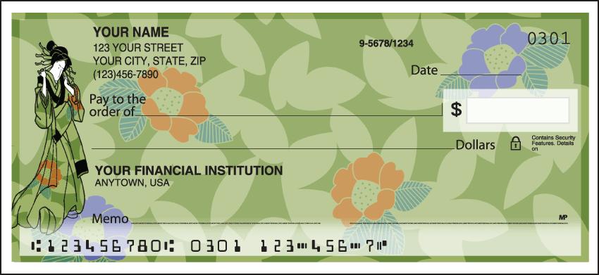 kimono personal checks - click to preview