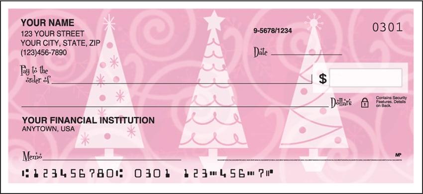 retro christmas side tear checks - click to preview