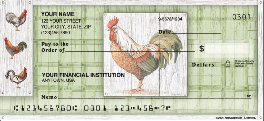Roosters Checks - click to view larger image