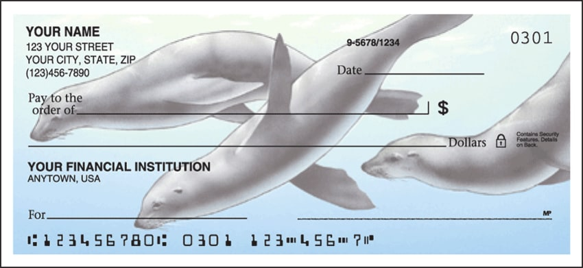 Sea Life Side Tear Checks - click to view larger image