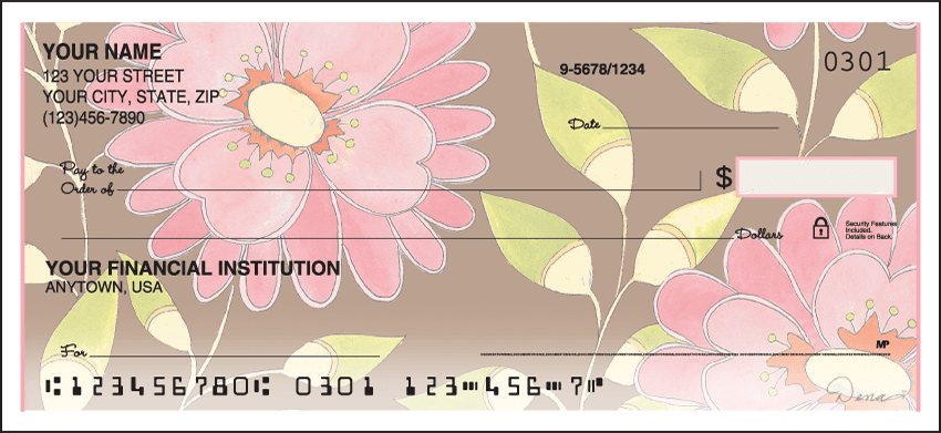 Sweet Blooms Checks - click to view larger image