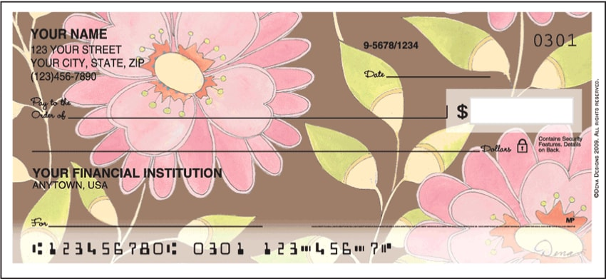 Sweet Blooms Side Tear Checks - click to view larger image