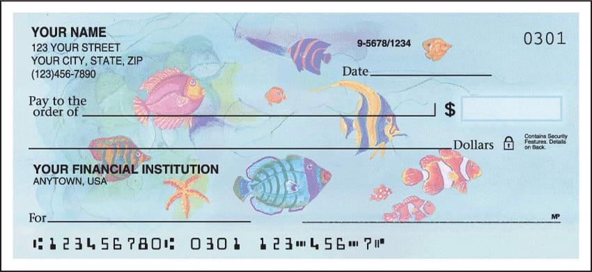 tropical fish checks - click to preview