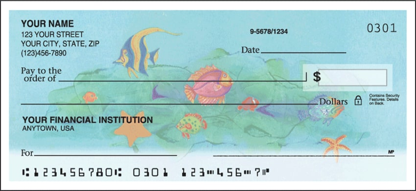 Tropical Fish Side Tear Checks - click to view larger image