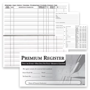 3-pack Premium Check Registers – click to view product detail page