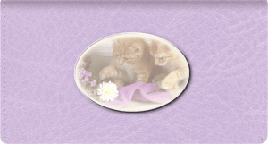 Cute Kittens Side Tear Checkbook Cover – click to view product detail page