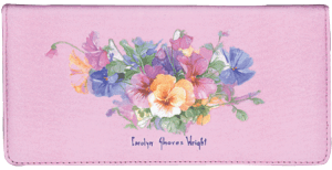 Pansies Checkbook Cover – click to view product detail page