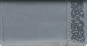 Premium Gray Checkbook Cover – click to view product detail page