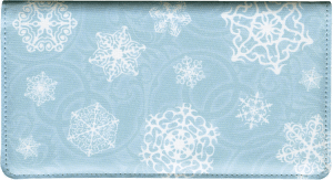 Snowflake Side Tear Checkbook Cover – click to view product detail page