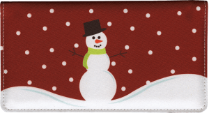 Snowman Side Tear Checkbook Cover – click to view product detail page