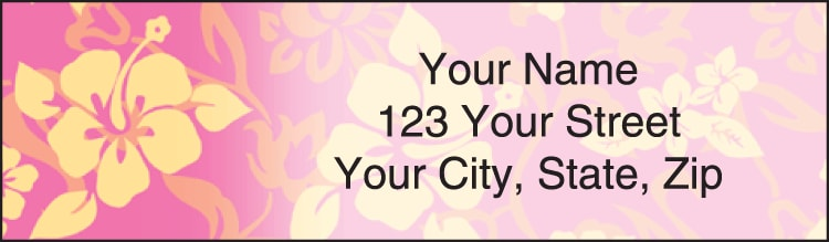 aloha address labels - click to preview