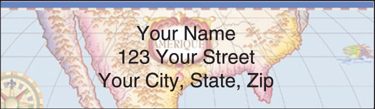 Antique Maps Address Labels