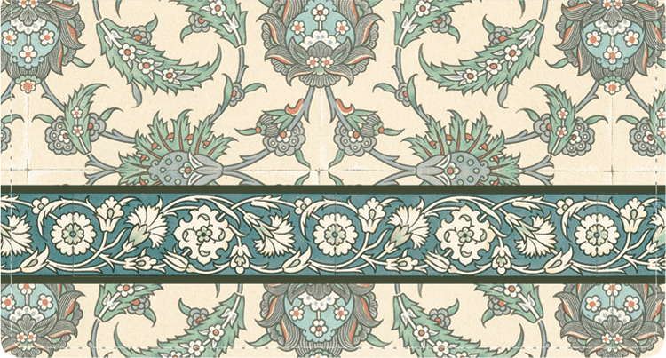 Arabesque Side Tear Checkbook Cover - click to view larger image