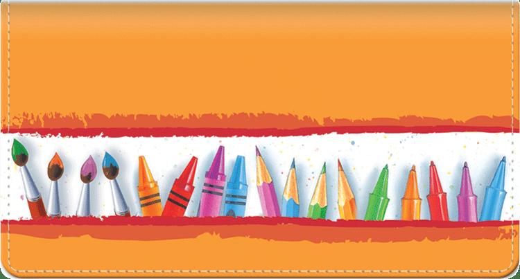 Art Lines Checkbook Cover