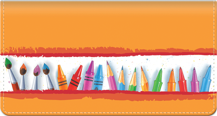 Art Lines Side Tear Checkbook Cover - click to view larger image