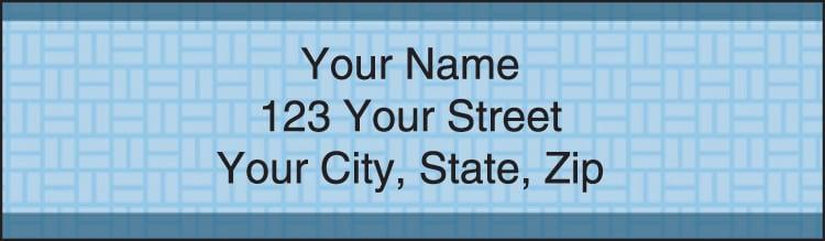 Basic Blue Address Labels