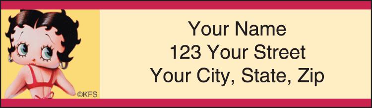 Betty Boop Vintage Address Labels