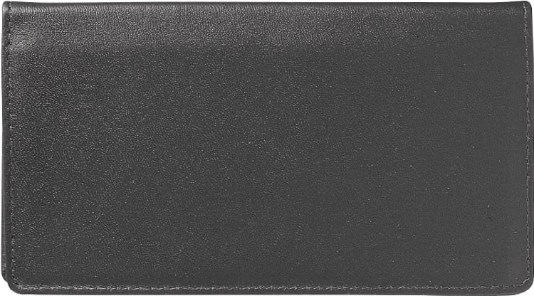 Black Leather Checkbook Cover - click to view larger image