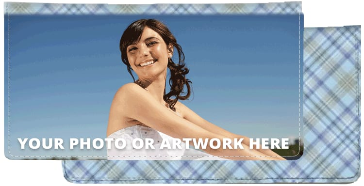Blue Plaid Photo Checkbook Cover - click to view larger image