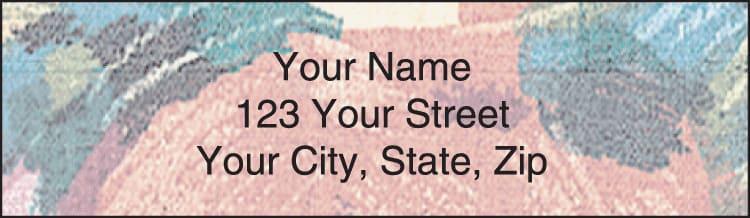 Brushed Floral Address Labels