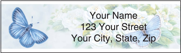 Butterfly Blooms Address Labels - click to preview