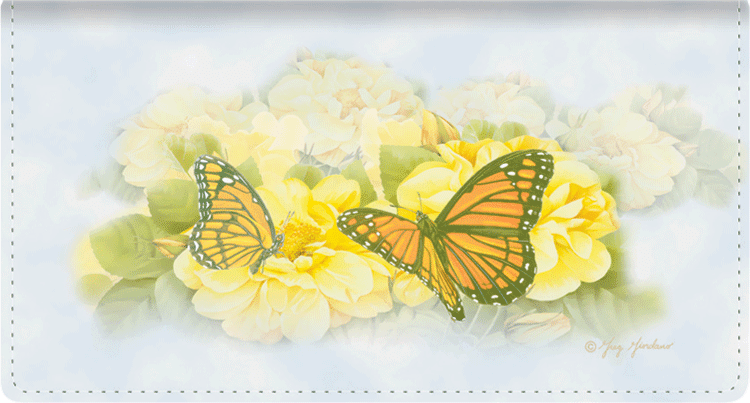 Butterfly Blooms Side Tear Checkbook Cover - click to view larger image