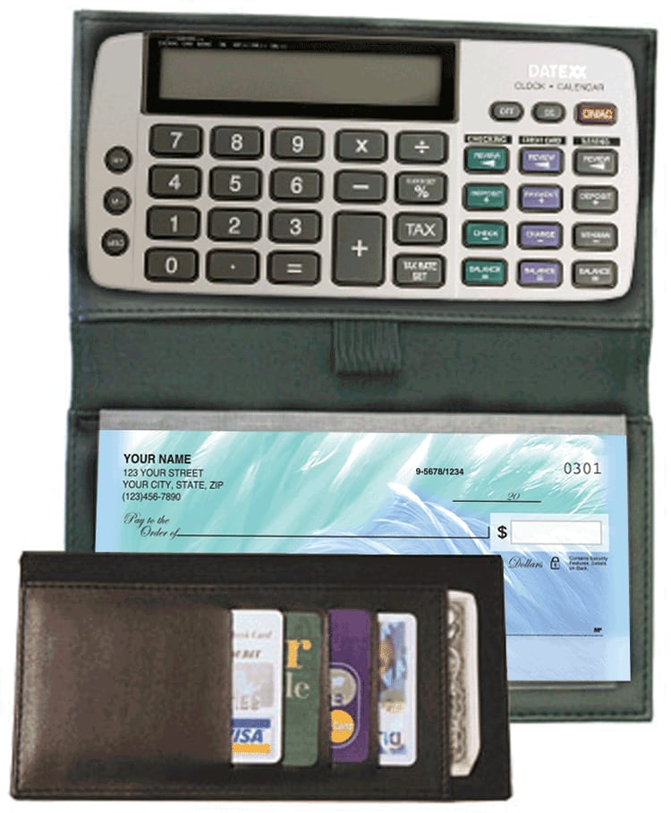 Checkbook Calculator with Bi-fold Cover - click to view larger image