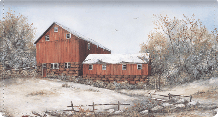 Country Seasons Checkbook Cover