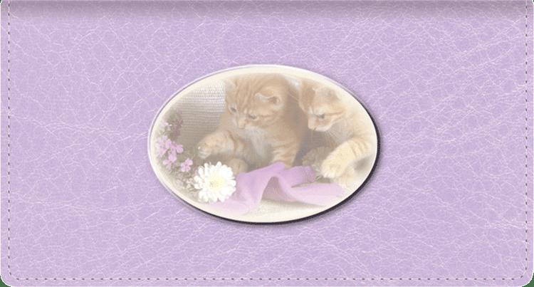 Cute Kittens Side Tear Checkbook Cover
