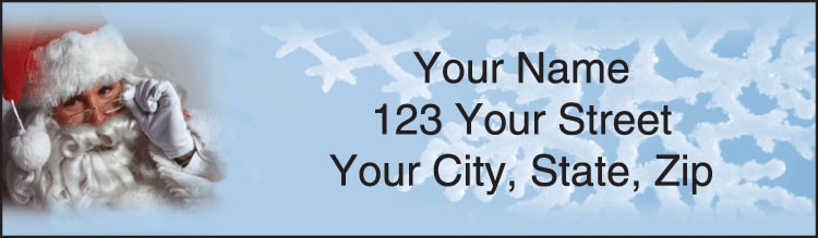 happy holidays address labels - click to preview