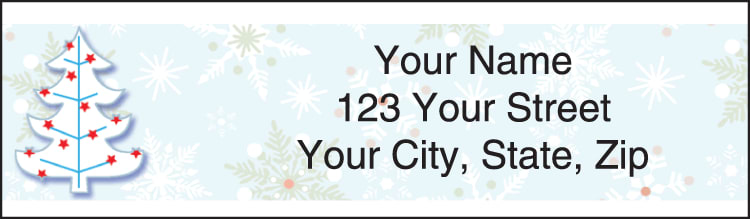 Holiday Spirit Christmas Labels - click to preview