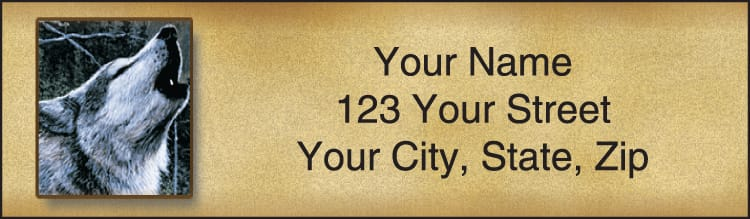 In The Wild Address Labels - click to view larger image