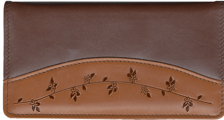 Ivy Accents Side Tear Checkbook Cover - click to view larger image