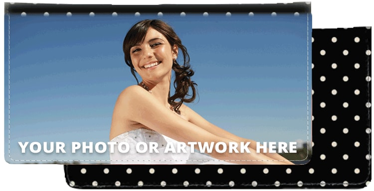 Polka Dots Photo Checkbook Cover - click to view larger image
