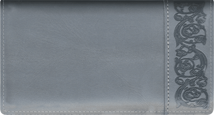 Premium Gray Side Tear Checkbook Cover