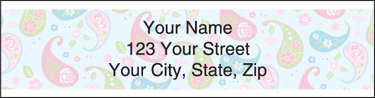 Pretty Posies Address Labels
