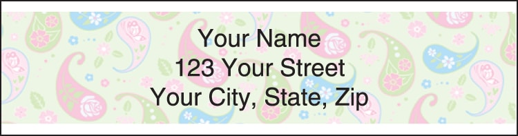 pretty posies address labels - click to preview