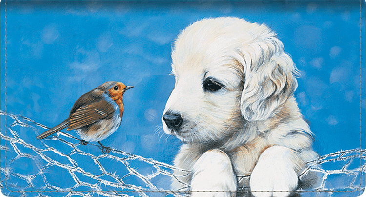 Puppy Tales Side Tear Checkbook Cover